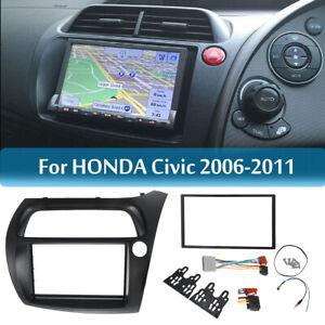 2-Din-Radio-Fascia-Plates-Dash-Trim-Mount-Frame-for-Honda-Civic-Panel-Frame