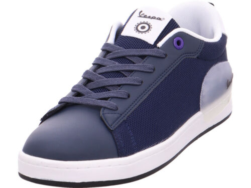 Vespa Messieurs SUEDE chaussure sport Sneaker Bleu