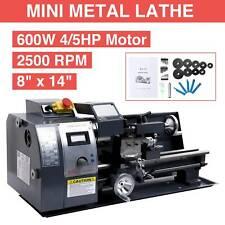 8x14 Digital Metal Turning Mini Lathe Machine Automatic Metal Wood Milling Diy