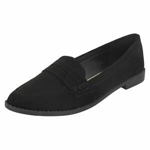 Spot On Ladies Pointed Toe Loafers