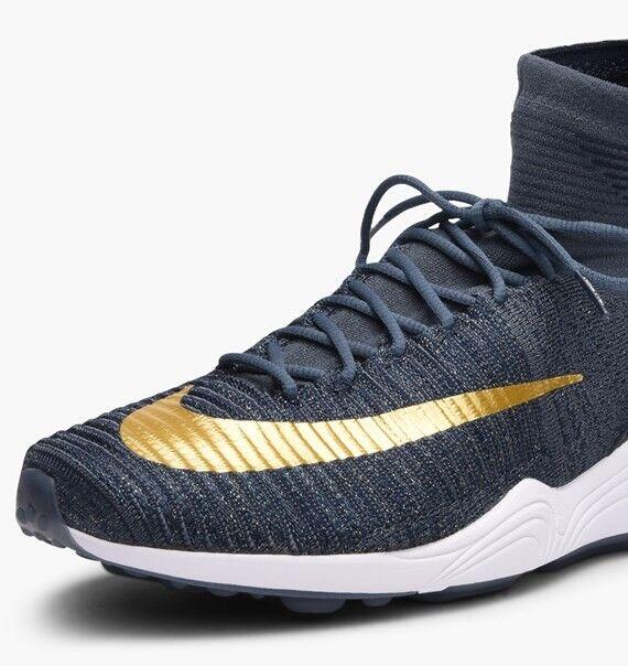 Nike Zoom Mercurial XI Flyknit FC UK 9 EU 44 44 44 852616-400 BlauFox MetallicGold cfebab