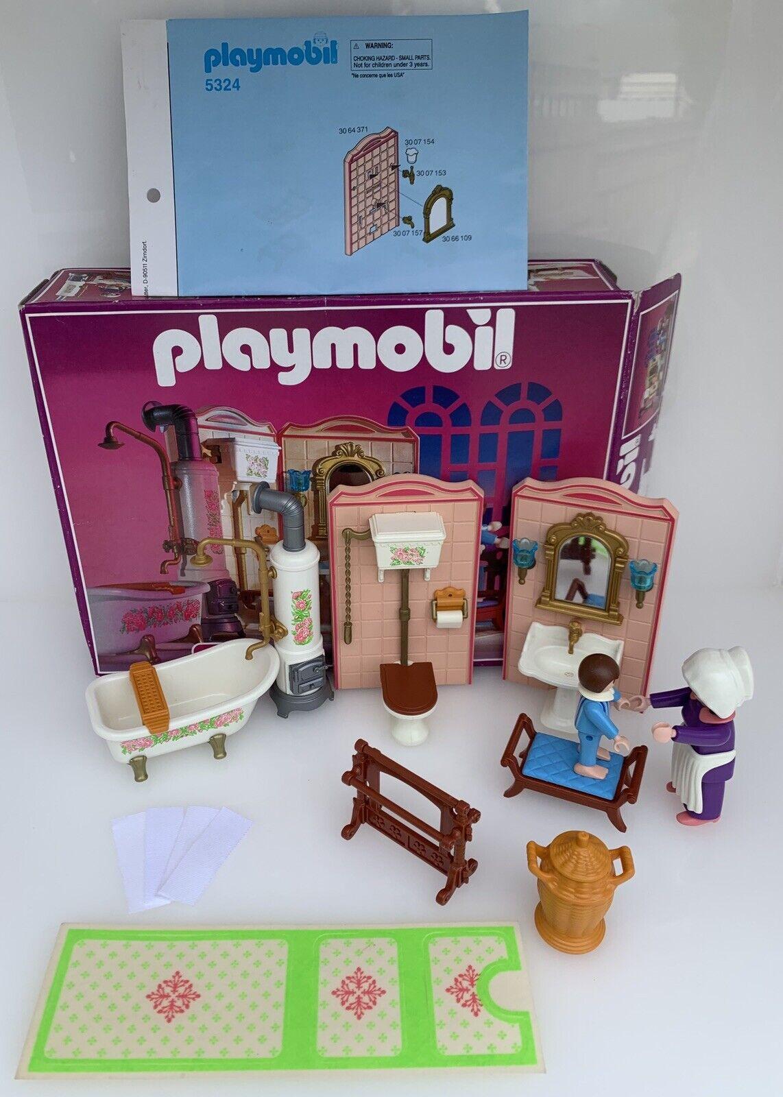 Playmobil Victorian Mansion Furniture 5324 Vintage Dolls House Bathroom Boxed