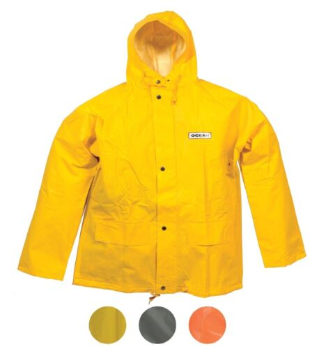 Fishing Ocean Off Shore Jacket 460g PVC Work Wear 18-20