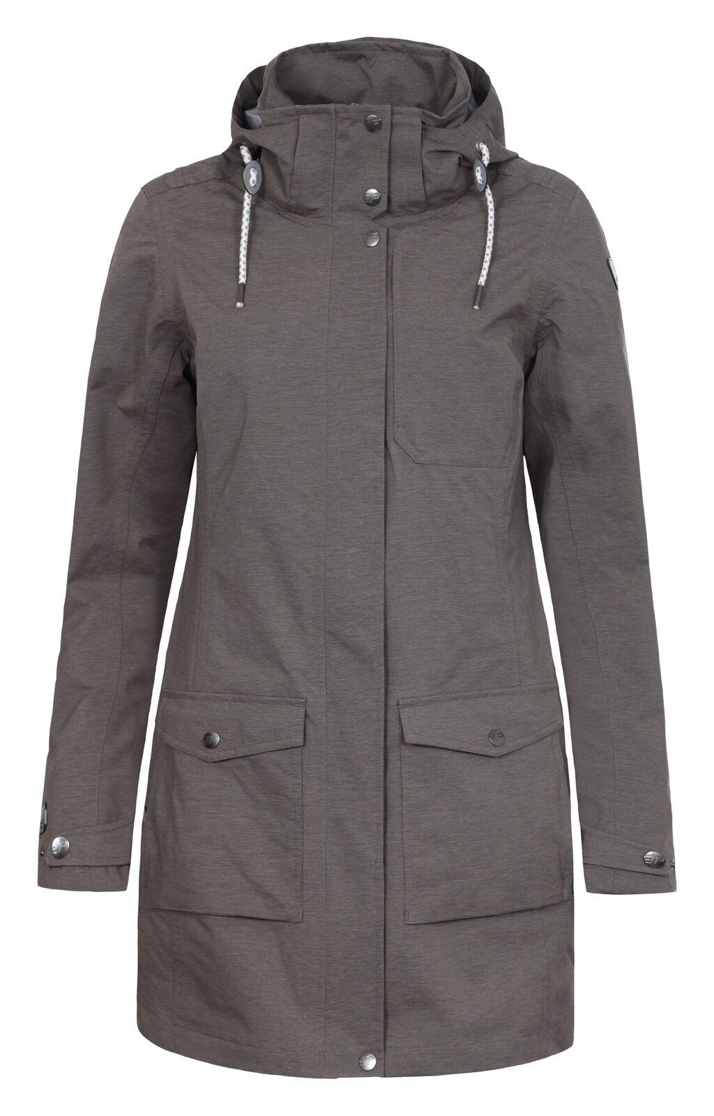 Icepeak Damen Parka LIN 53018-507 dunkel-khaki   Mantel Damen    Up-to-date Styling