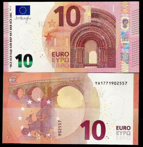 """New prefix /""""YA 177/"""" 10 Euros 2014 Second series Draghi signature GEM UNC Greece"""
