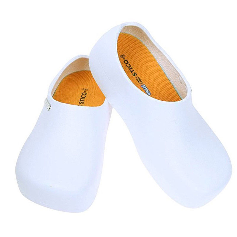 STICO Mens Chef Kitchen Slip Resistant Safety Rubber Occupational shoes White