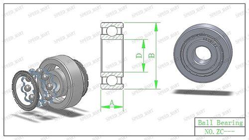 17mm*23mm*4mm 5PCS 6703ZZ DEEP GROOVE METAL DOUBLE Blindé Roulement à billes