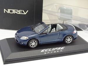 """Norev 1/43 - Mitsubishi Eclipse Spider Bleue - France - État : Occasion : Objet ayant été utilisé. Consulter la description du vendeur pour avoir plus de détails sur les éventuelles imperfections. Commentaires du vendeur : """"Défaut sur la vitre de pare brise - Trs bon état + bote - 1/43 // Mi - France"""