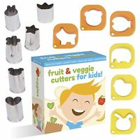 Fruit And Vegetable Cutter Shape Set For Kids By Upchefs - 12 Animal And Fun ...