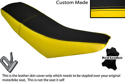 BLACK /& YELLOW CUSTOM FITS SUPERBYKE RMR 125 DUAL LEATHER SEAT COVER ONLY