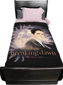 TWILIGHT-Breaking-Dawn-039-Edward-with-Crest-039-Fleece-Blanket-NECA-NEW