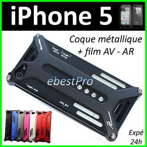 Accessoire-Housse-Etui-Coque-Metal-Transformer-Durable-Noir-iPhone-5-5G-Film