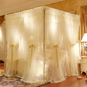 Details about double layers netting mosquito net bed canopy romantic room  decoration curtain