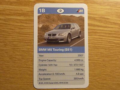 100% Vero Bmw M5 Touring (e61) Auto Quartetto Singola Scheda Oldtimer Classico 2007-mostra Il Titolo Originale Fabbricazione Abile