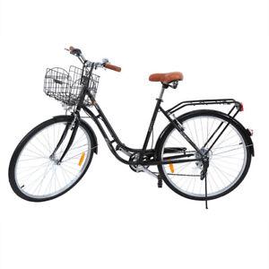 Citybike-Damen-28-Zoll-Fahrrad-Maedchenfahrrad-Cityfahrrad-Stadtrad-Damenrad-Korb