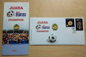 2011 Malaysia AFF Suzuki Cup 2010 Football Champion 2v Stamp FDC (KL) Variety