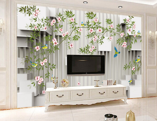 3D Flower Squid 566 Wallpaper Murals Wall Print Wallpaper Mural AJ WALL AU Kyra