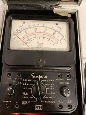 Rare Simpson 260 Series 3a Volt Ohm Multi Meter Analog With Case