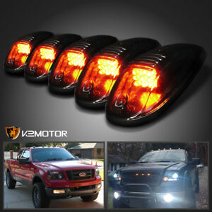 Superior Image Is Loading Smoked 5Pcs LED Cab Roof Running Marker Lights