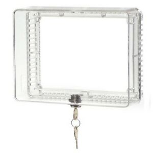 Thermostat-Guard-Protective-Box-Cover-Universal-Anti-Tamper-Clear-Locking-Key
