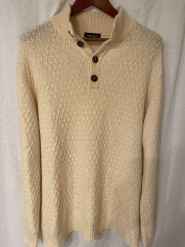 Stefano Ricci Cashmere Ivory Sweater Quarter-Zip