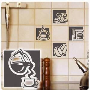 Fliesen Aufkleber Kaffee Coffee Kacheldekor Kuche Wandtattoo Lounge