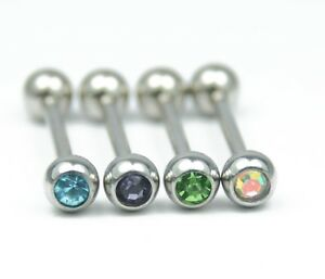 4-X-Surgical-Steel-Tongue-Bars-Multi-Colour-Crystal-Body-Piercing