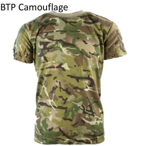 KIDS ARMY T-SHIRT 3-13 YRS BOYS GIRLS SOLDIER COSTUME FANCY DRESS CAMO CADET TOP