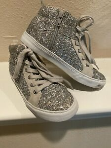 Girls Gap Sneakers Size 2 Glitter High
