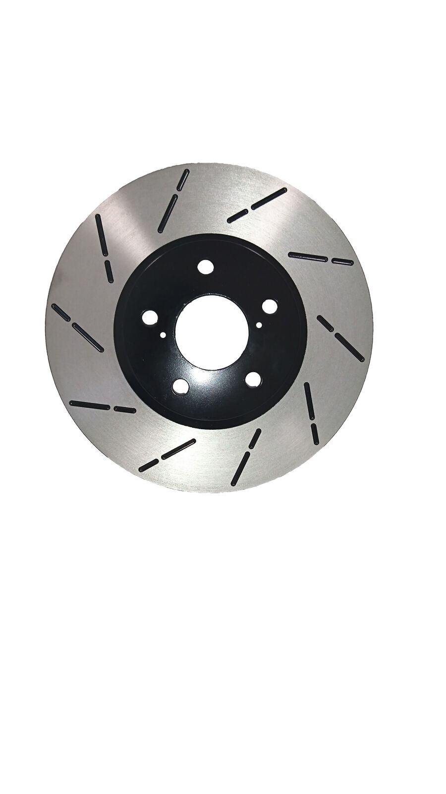 Fit 06-13 Toyota RAV4 V6 Front Premium E-Coat Slott Brake Rotors Ceramic Pads