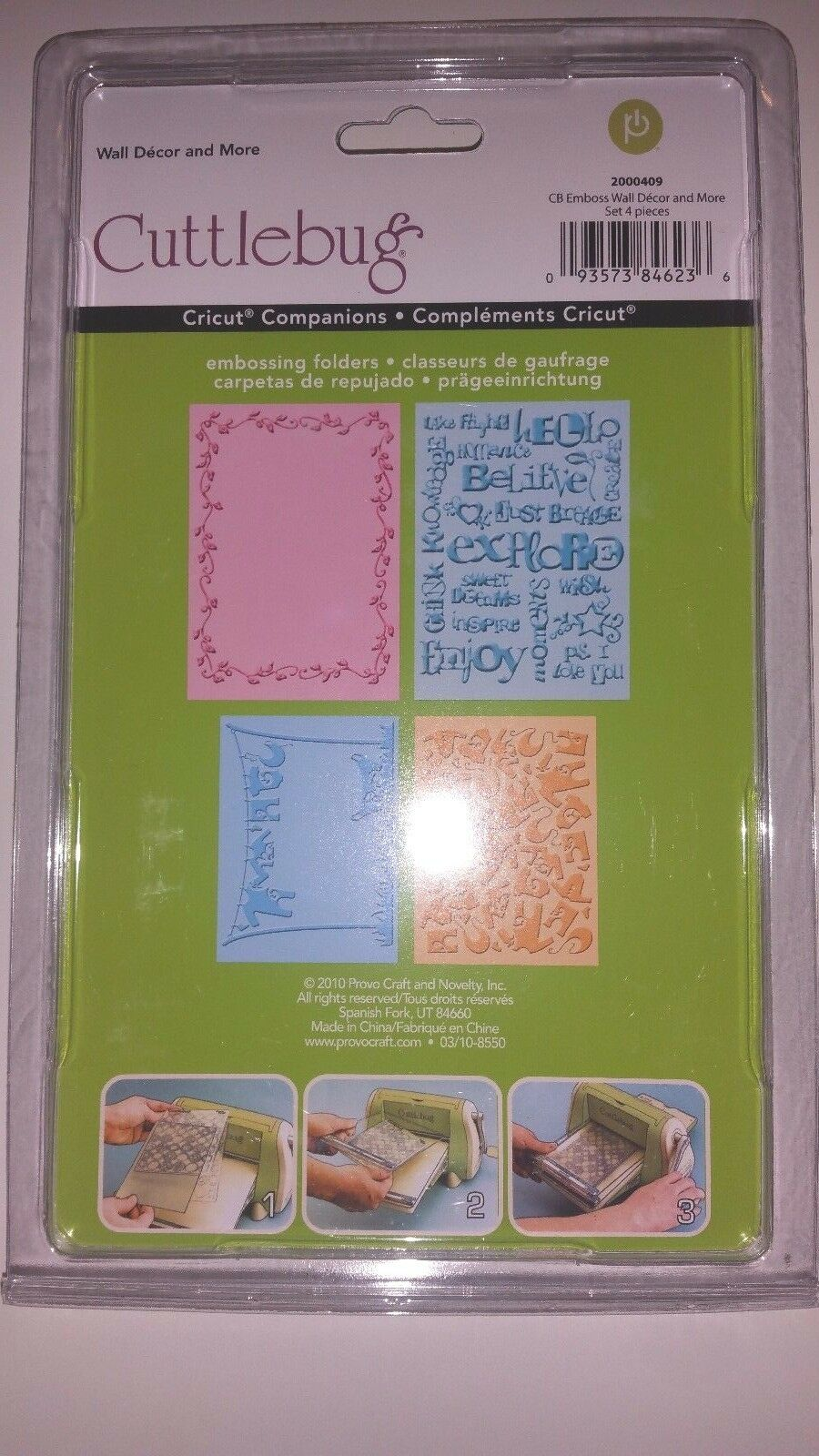 Cuttlebug Embossing Set Wall Decor and More 2000409