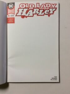 DC Old Lady Harley #1 BLANK Sketch Cover Variant -