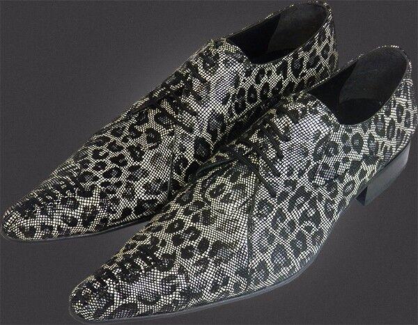1000% Chelsy - Italienischer Designer Schnürschuh Netzmuster Leopardenmuster 41