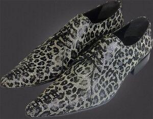 Herrenschuhe Süß GehäRtet 1000% Chelsy Italienischer Designer Schnürschuh Netzmuster Leopardenmuster 45