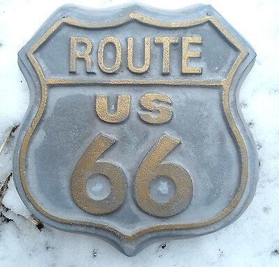 Route 66 garden sign mold plastic casting concrete plaster mould