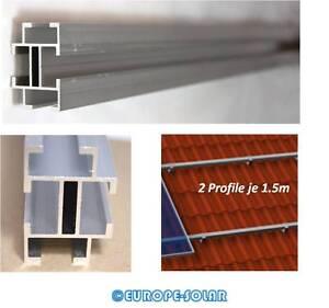2x Montageprofil Alu Pv Crease-Resistance Allseitiger Nutenkanal Befestigung Dachhaken Je 1.5m