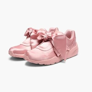 Details about Puma x Fenty By Rihanna Women Bow Sneaker pink silver  365054-01