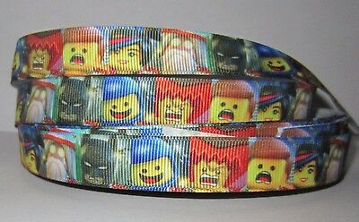 "GROSGRAIN THE LEGO MOVIE WLDSTYLE 5//8/"" INCH RIBBON FOR HAIR BOWS DIY CRAFTS"