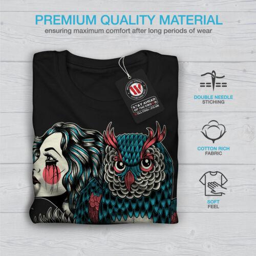 Wellcoda LUPO DRAGO TESCHIO MODA DA UOMO MANICA LUNGA T-shirt graphic design