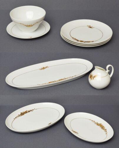 Rosenthal Porzellan 8 Teile Golddekor Romanze große Platte 36cm Teller Schüssel