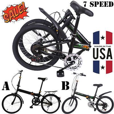 """Urban Commuter Bike 7Speed 20/""""Folding Suspension Bike Disc Brake Bicycles PRO"""