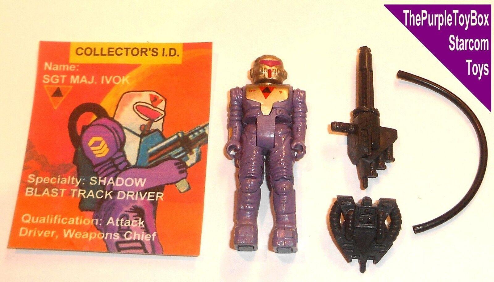 (E003) Vintage 1980's Starcom Toys   SGT MAJ. IVOK   Robot Drones  CUSTOM