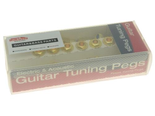 Wilkinson 6 Inline Mini Oval Button E-Z Post Guitar Tuners Machine Heads