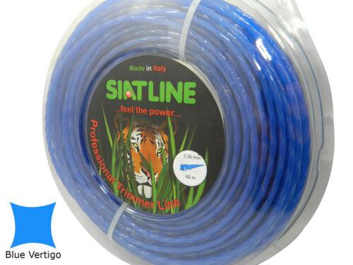 Professional Quality Silent Strimmer line cord,3,3 mm,BLUE VERTIGO,MADE IN ITALY