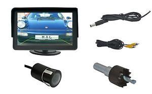 """Rückfahrkamera 18mm Ø & 4.3"""" Monitor passend für Subaru Fahrzeuge"""