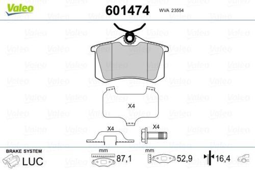 Scheibenbremse VALEO 601474 Bremsbelagsatz