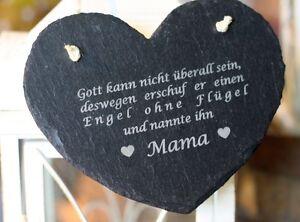 Schieferherz Mama Spruch Muttertag Tafel Geburtstag Deko Schild