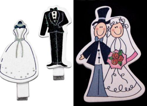 Deko Braut Bräutigam Brautpaar Hochzeit Klammer Scrapbooking
