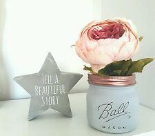 Painted Mason Ball Jar - Perfect for Weddings & Home Decor