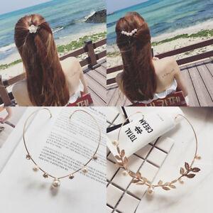Femmes-Epingle-Cheveux-Barrette-Serre-tete-Cristal-Strass-Perles-Fleur-Coiffure